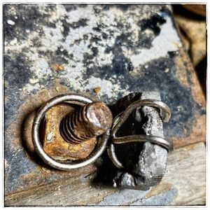 Pyrite handmade adjustable ring